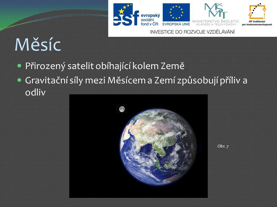 Měsíc Přirozený satelit obíhající kolem Země