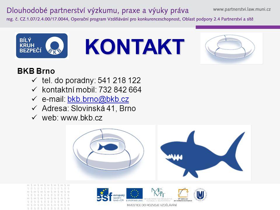 KONTAKT BKB Brno tel. do poradny: 541 218 122
