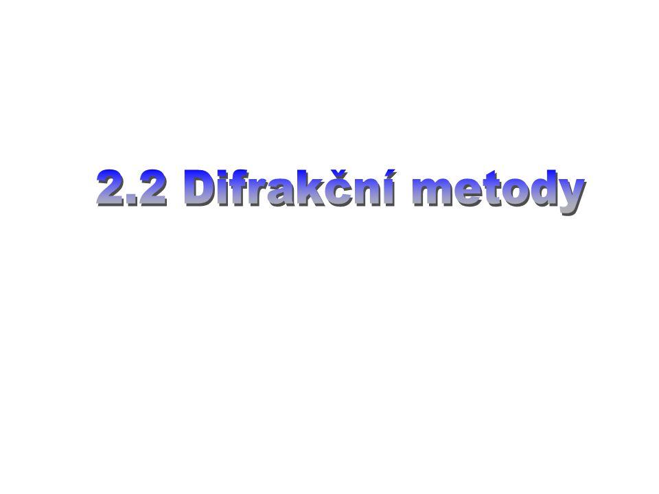 2.2 Difrakční metody