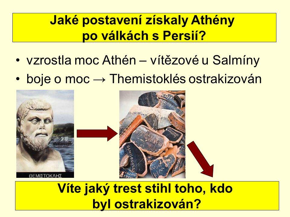 Jaké postavení získaly Athény Víte jaký trest stihl toho, kdo