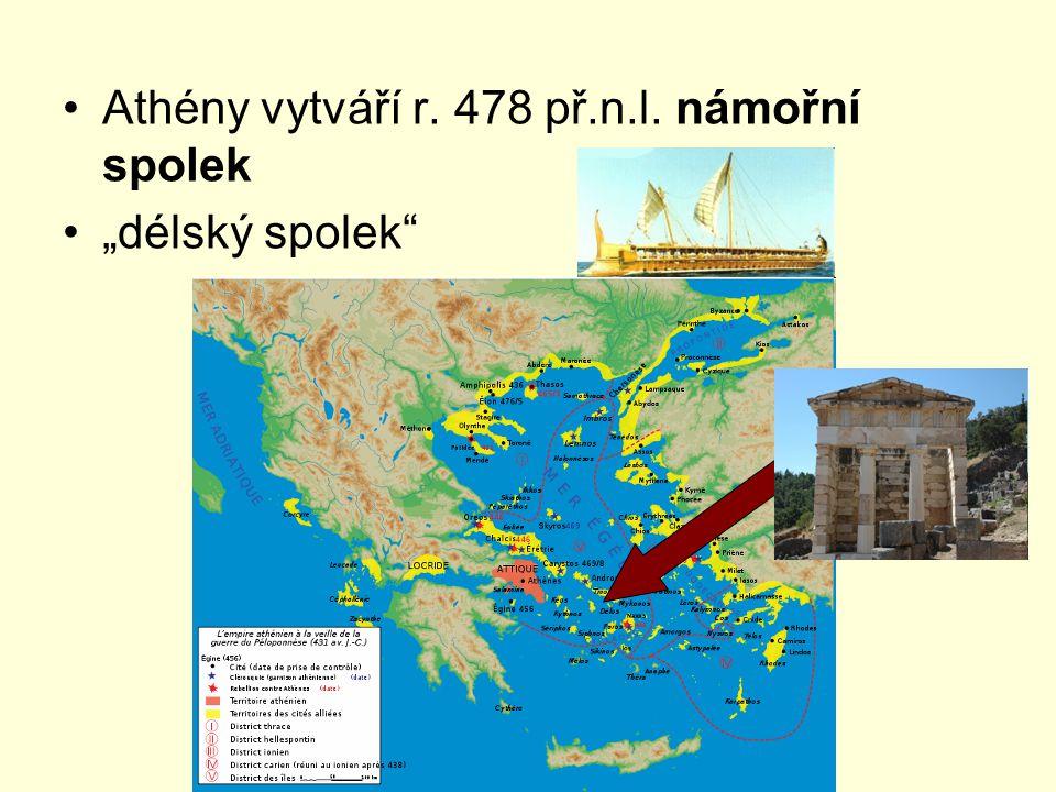Athény vytváří r. 478 př.n.l. námořní spolek