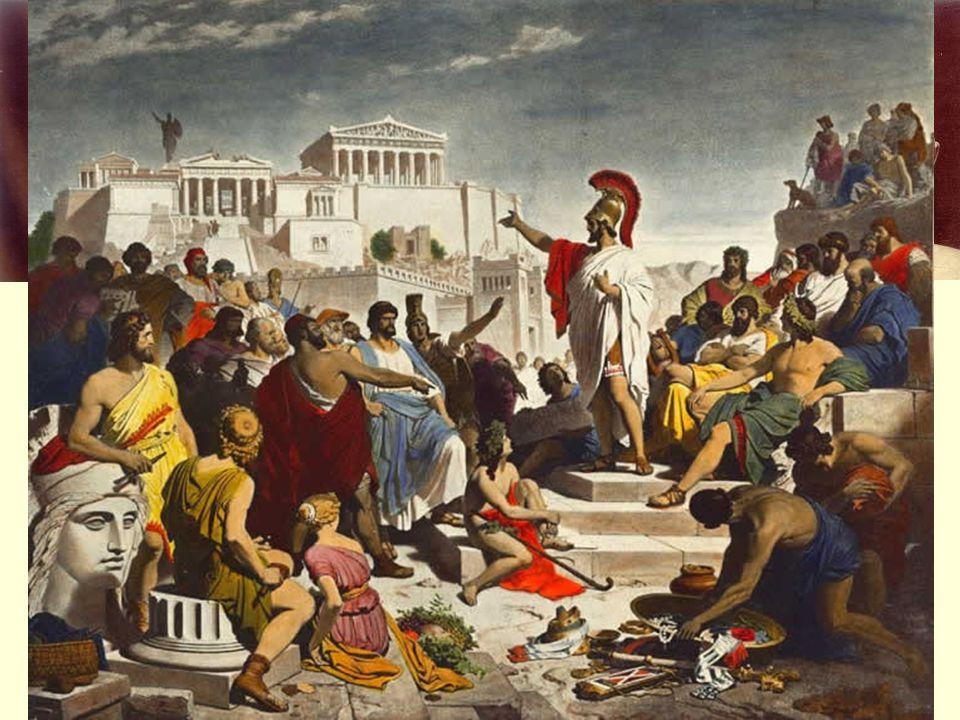 Zlatý věk Athén Periklés (443 – 429 př.n.l.) vynikající řečník