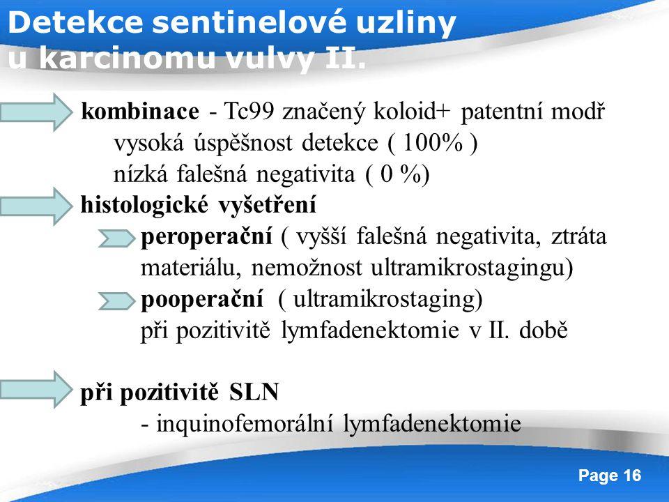 Detekce sentinelové uzliny u karcinomu vulvy II.