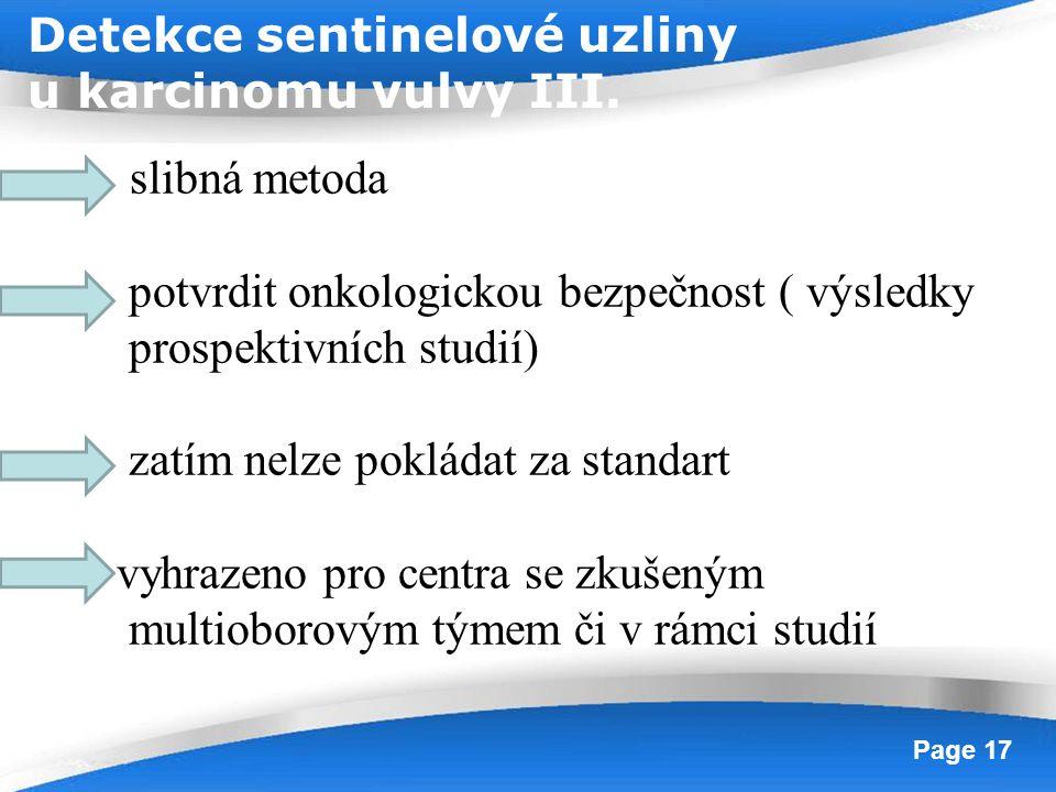 Detekce sentinelové uzliny