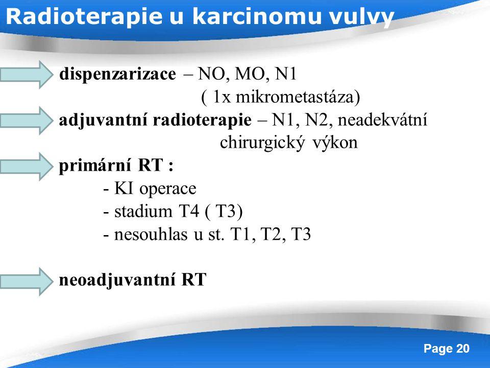 Radioterapie u karcinomu vulvy