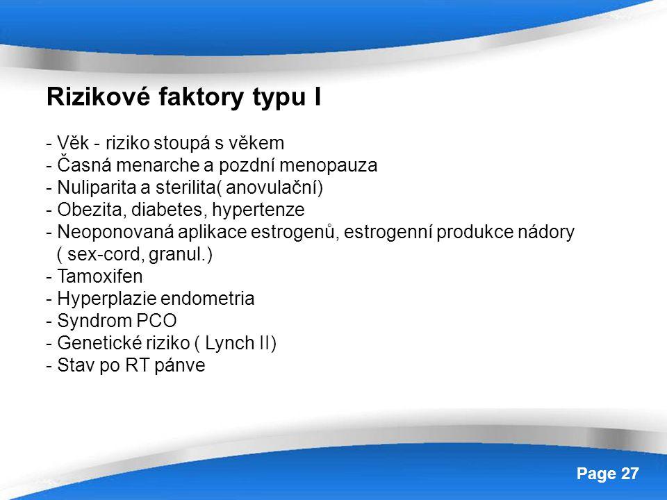 Rizikové faktory typu I