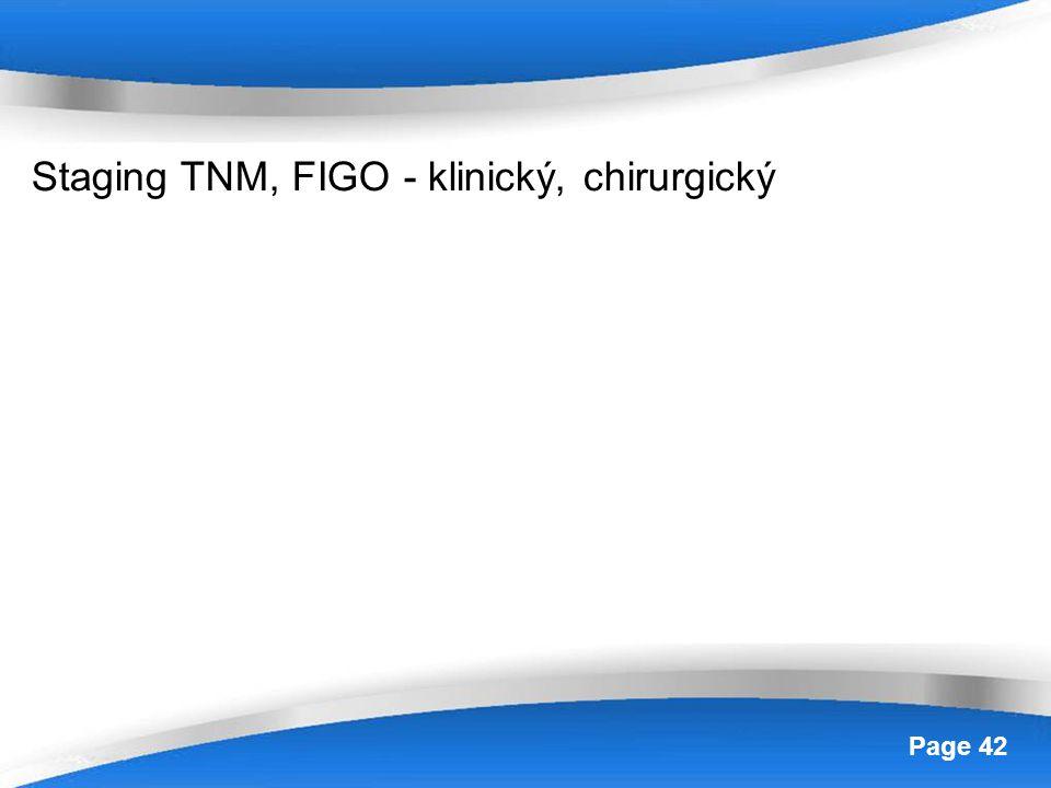 Staging TNM, FIGO - klinický, chirurgický