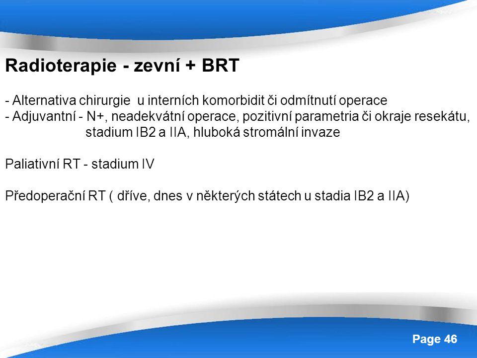 Radioterapie - zevní + BRT