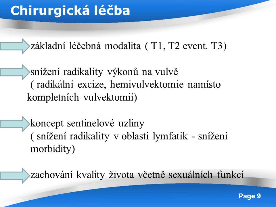 Chirurgická léčba základní léčebná modalita ( T1, T2 event. T3)