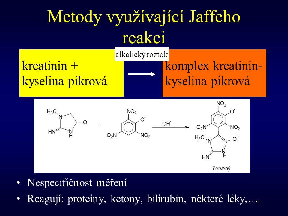 Metody využívající Jaffeho reakci