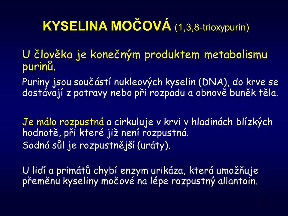 KYSELINA MOČOVÁ (1,3,8-trioxypurin)