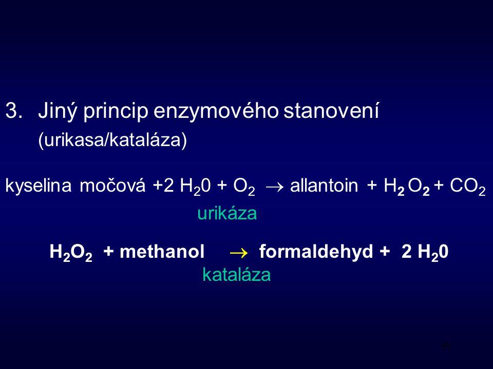 H2O2 + methanol  formaldehyd + 2 H20