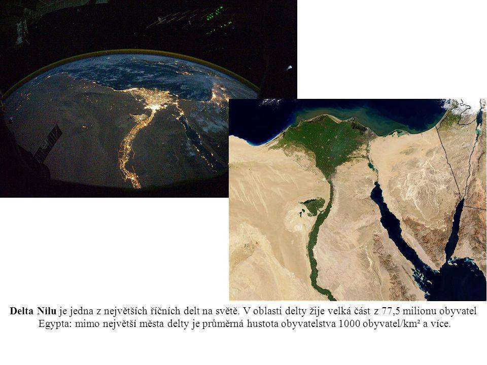 Delta Nilu je jedna z největších říčních delt na světě