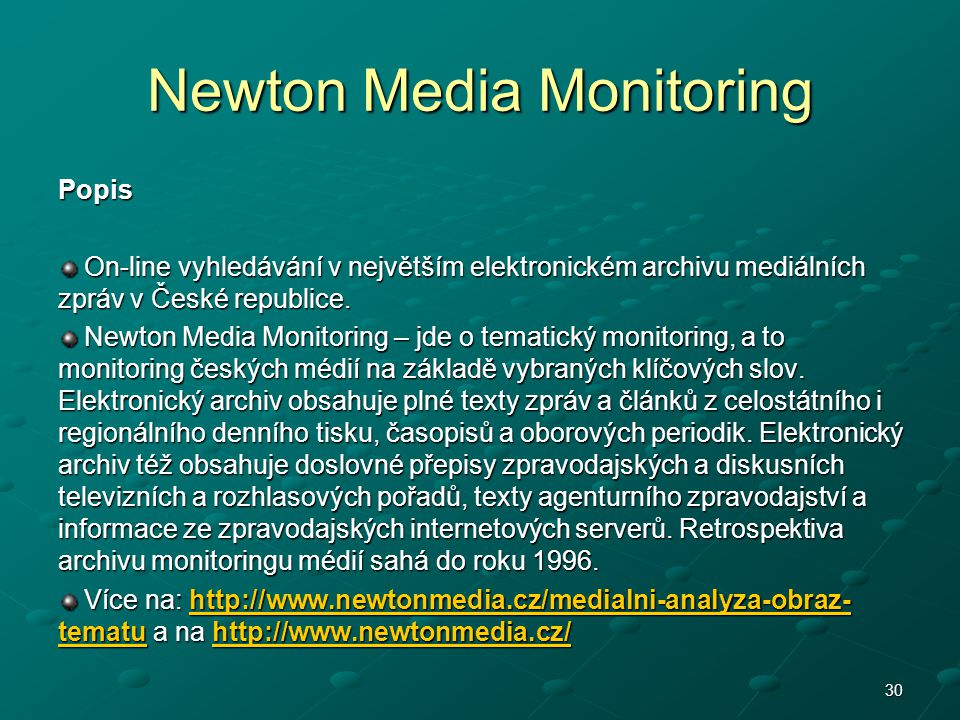 Newton Media Monitoring