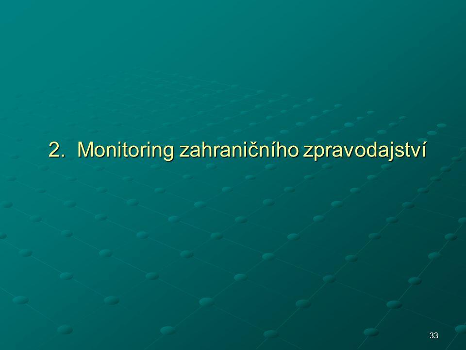 2. Monitoring zahraničního zpravodajství