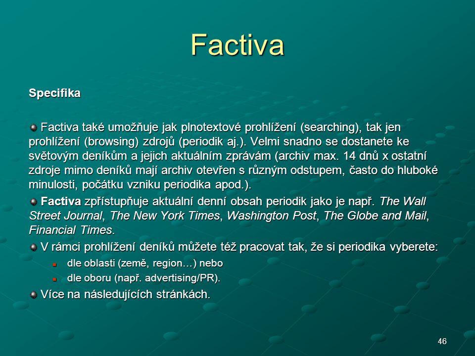 Factiva Specifika.