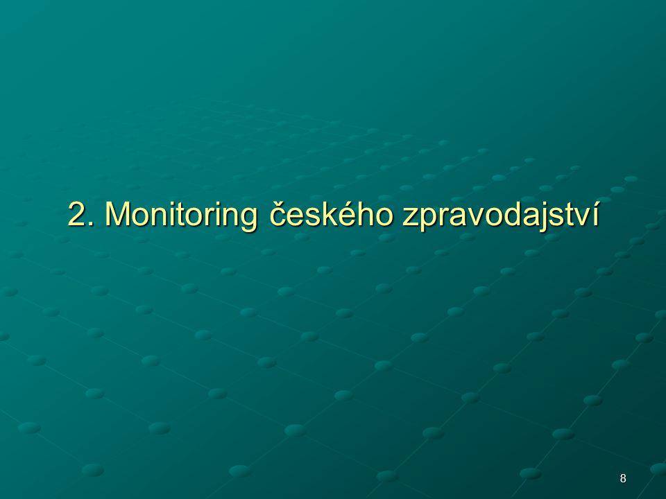 2. Monitoring českého zpravodajství