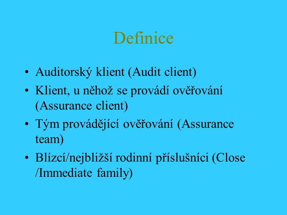 Definice Auditorský klient (Audit client)