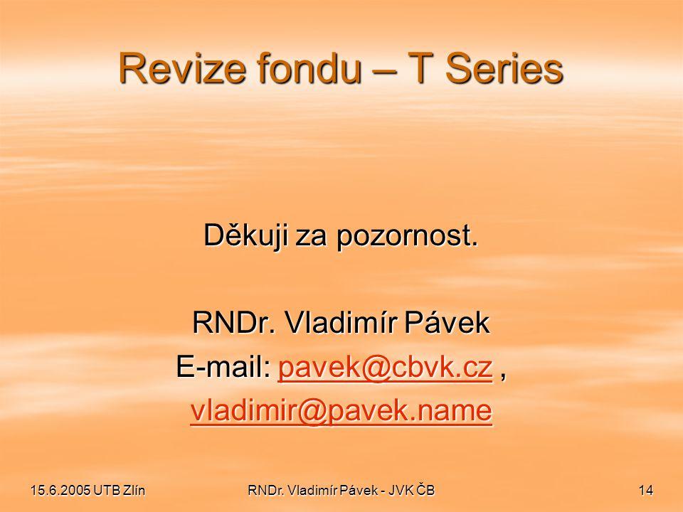 RNDr. Vladimír Pávek - JVK ČB