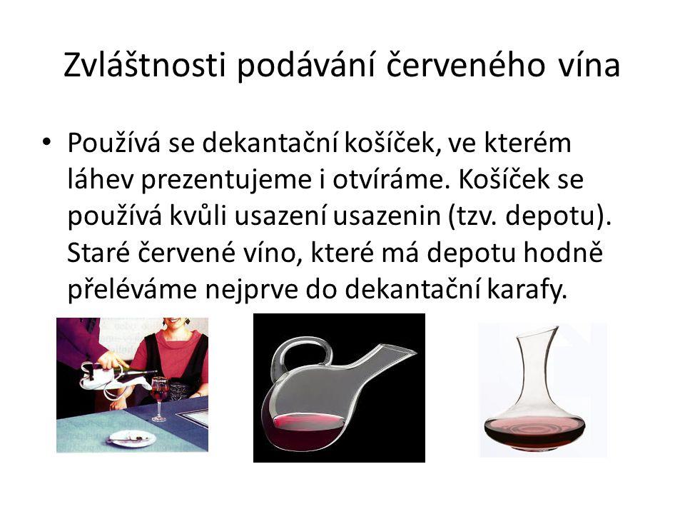 Zvláštnosti podávání červeného vína