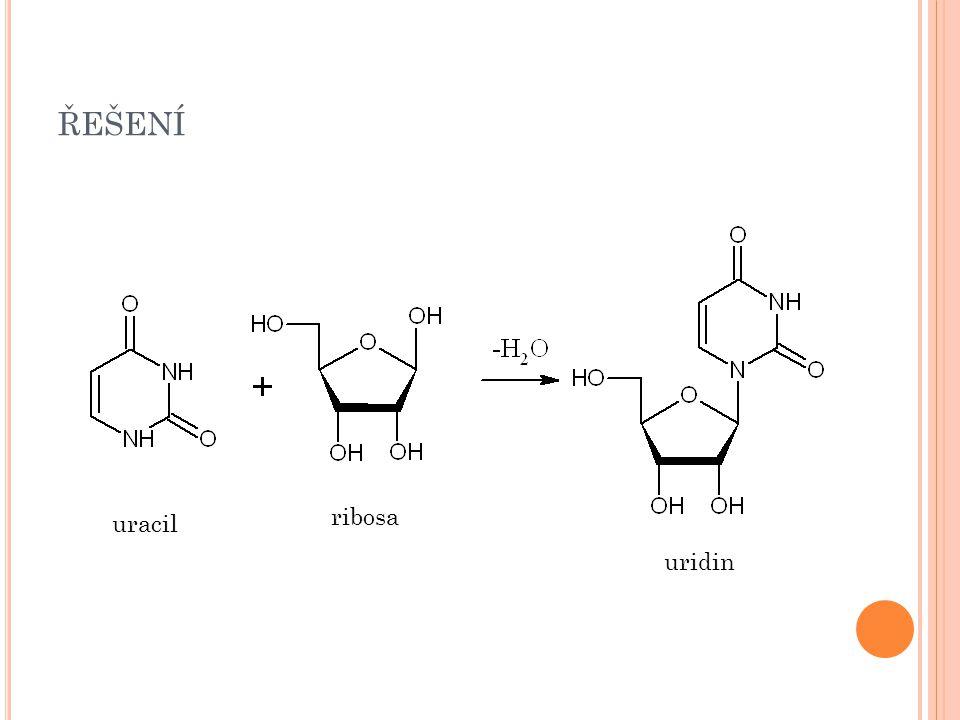 řešení ribosa uracil uridin