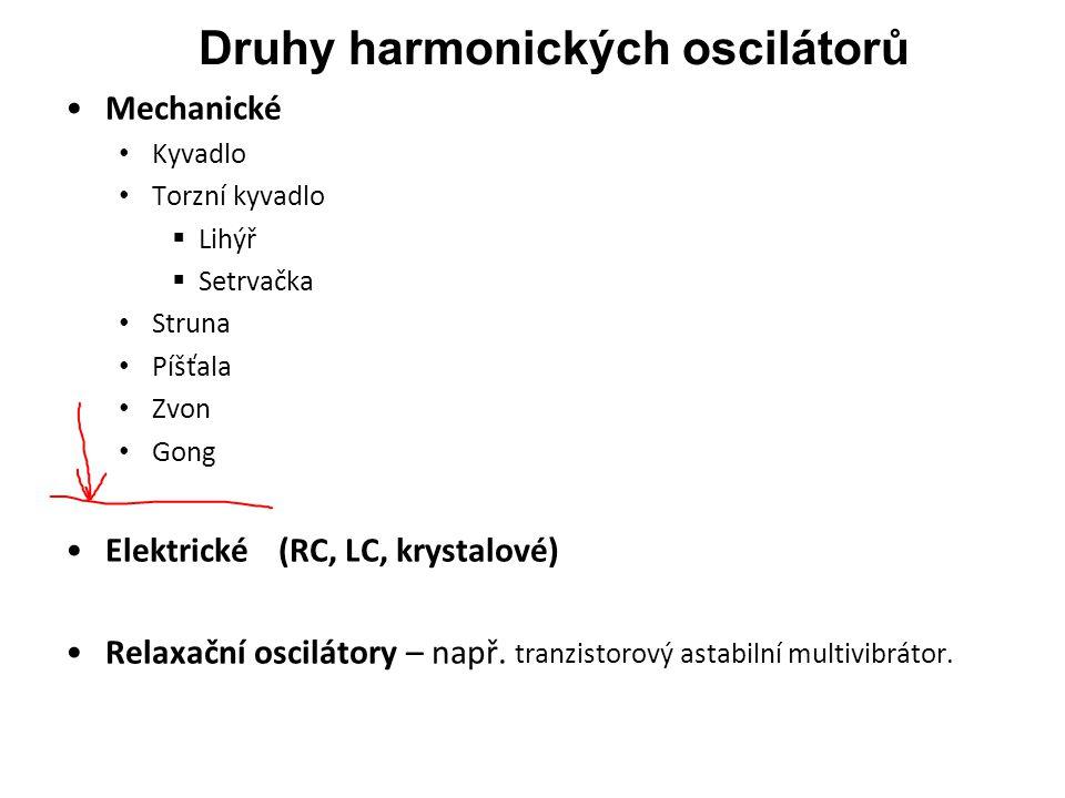 Druhy harmonických oscilátorů
