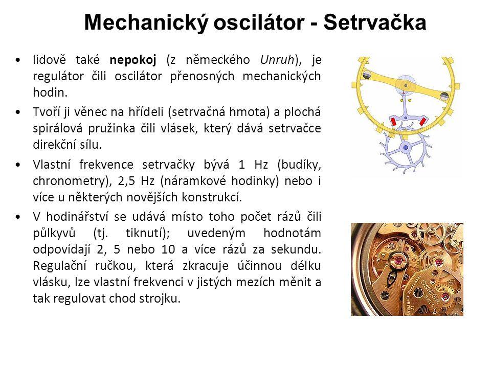 Mechanický oscilátor - Setrvačka