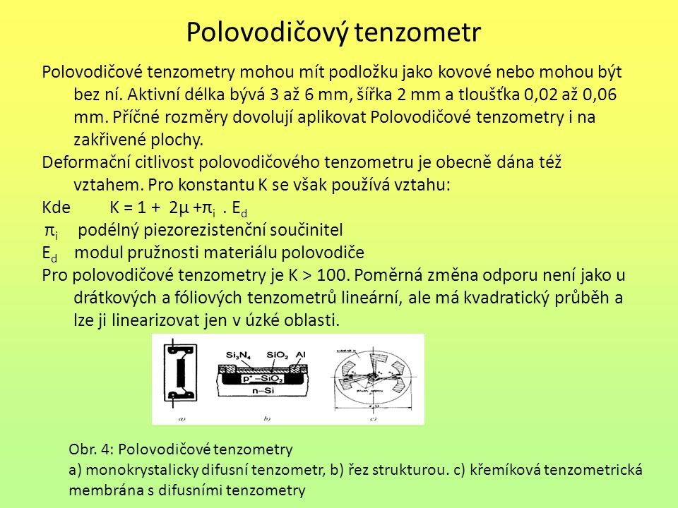 Polovodičový tenzometr