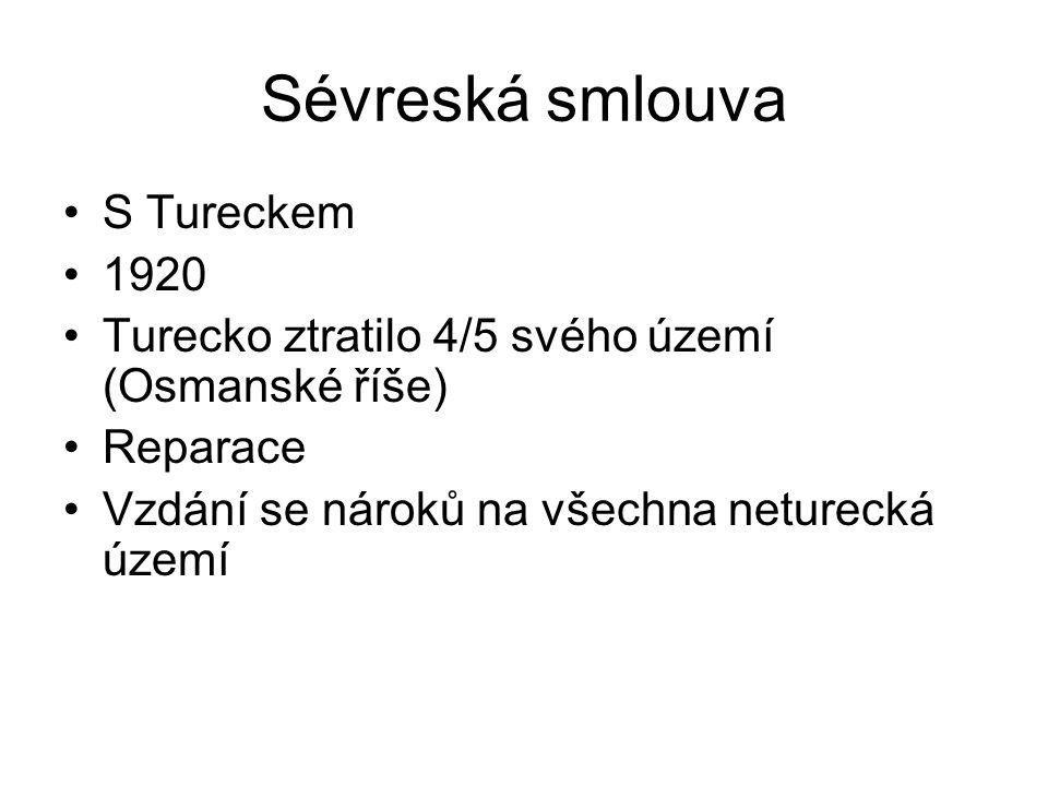 Sévreská smlouva S Tureckem 1920