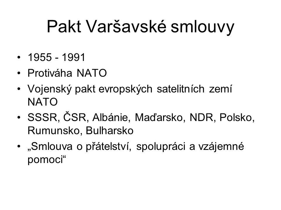Pakt Varšavské smlouvy