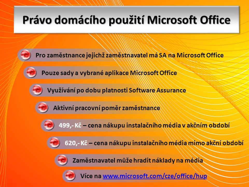 Právo domácího použití Microsoft Office