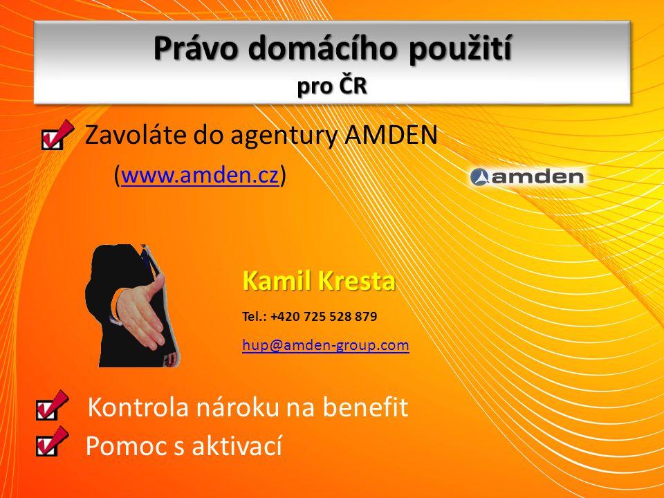 Právo domácího použití pro ČR