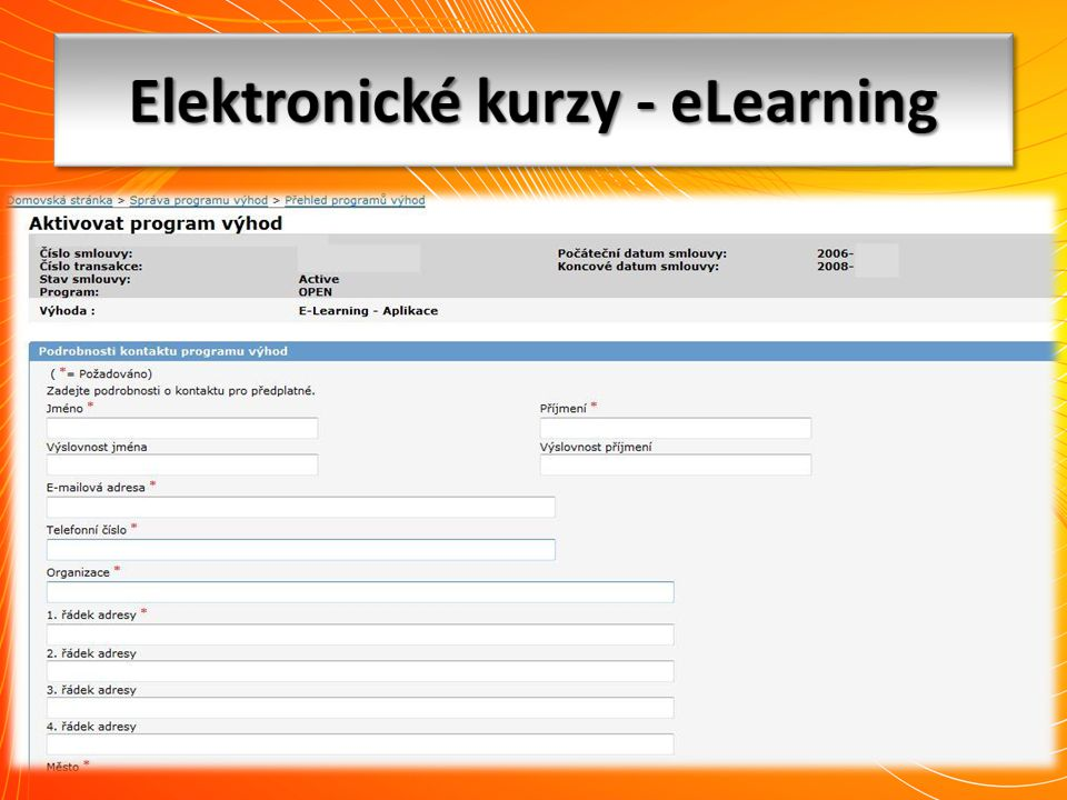 Elektronické kurzy - eLearning