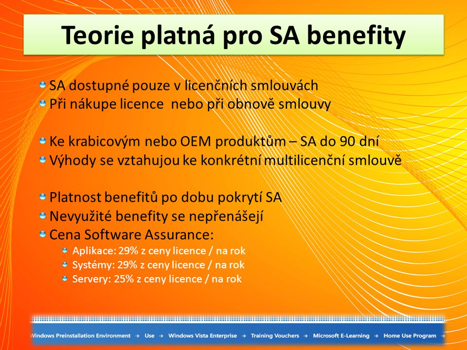Teorie platná pro SA benefity