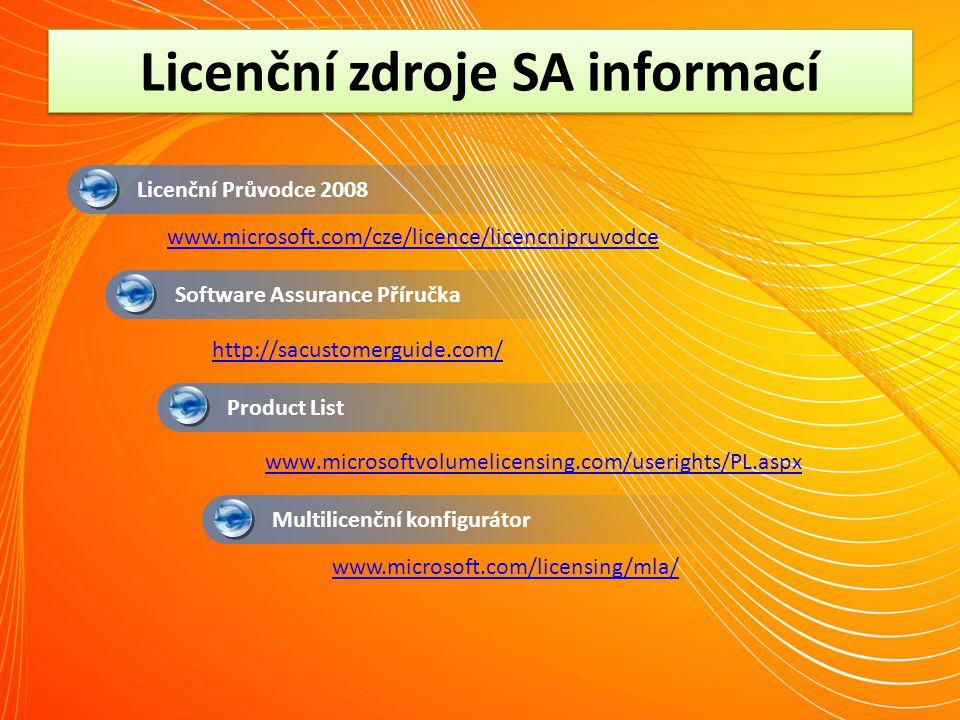 Licenční zdroje SA informací