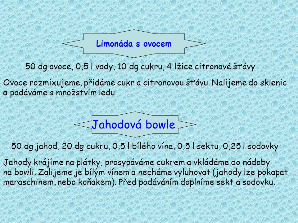 Jahodová bowle Limonáda s ovocem