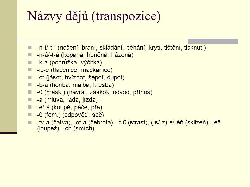 Názvy dějů (transpozice)
