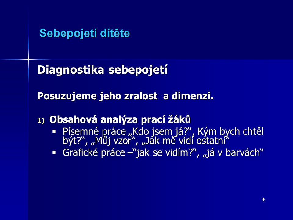 Diagnostika sebepojetí