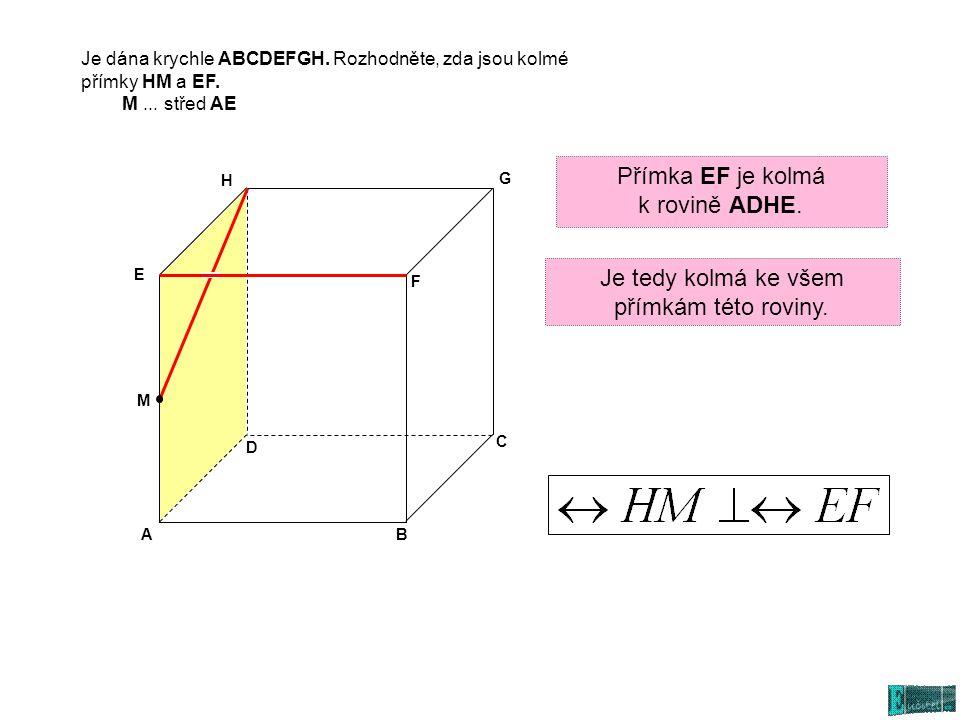 Je tedy kolmá ke všem přímkám této roviny.
