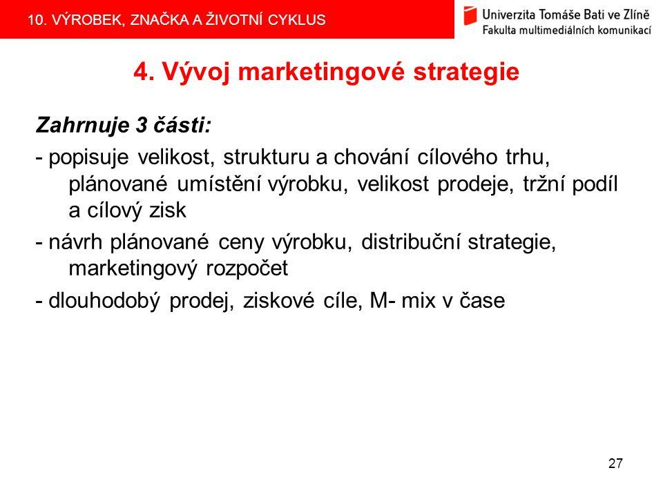 4. Vývoj marketingové strategie