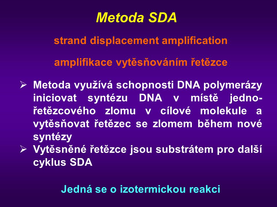 Metoda SDA strand displacement amplification