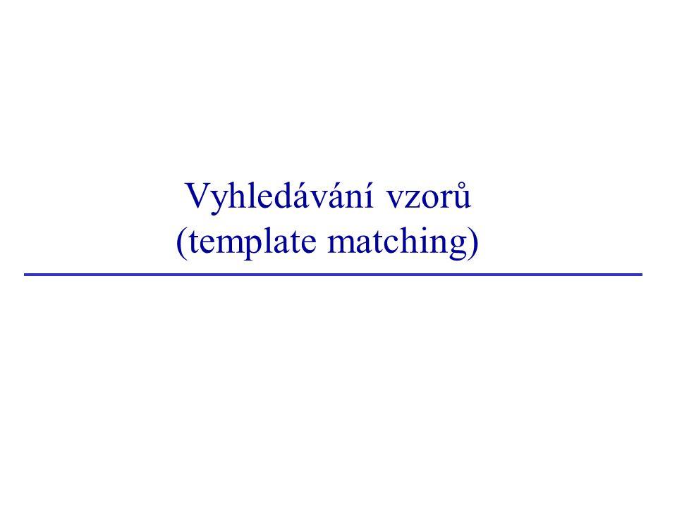 Vyhledávání vzorů (template matching)