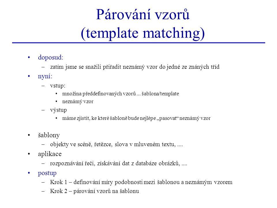 Párování vzorů (template matching)
