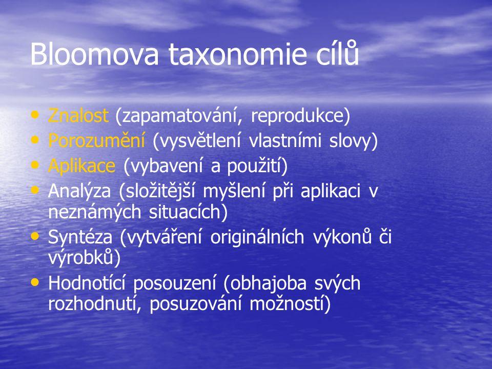 Bloomova taxonomie cílů