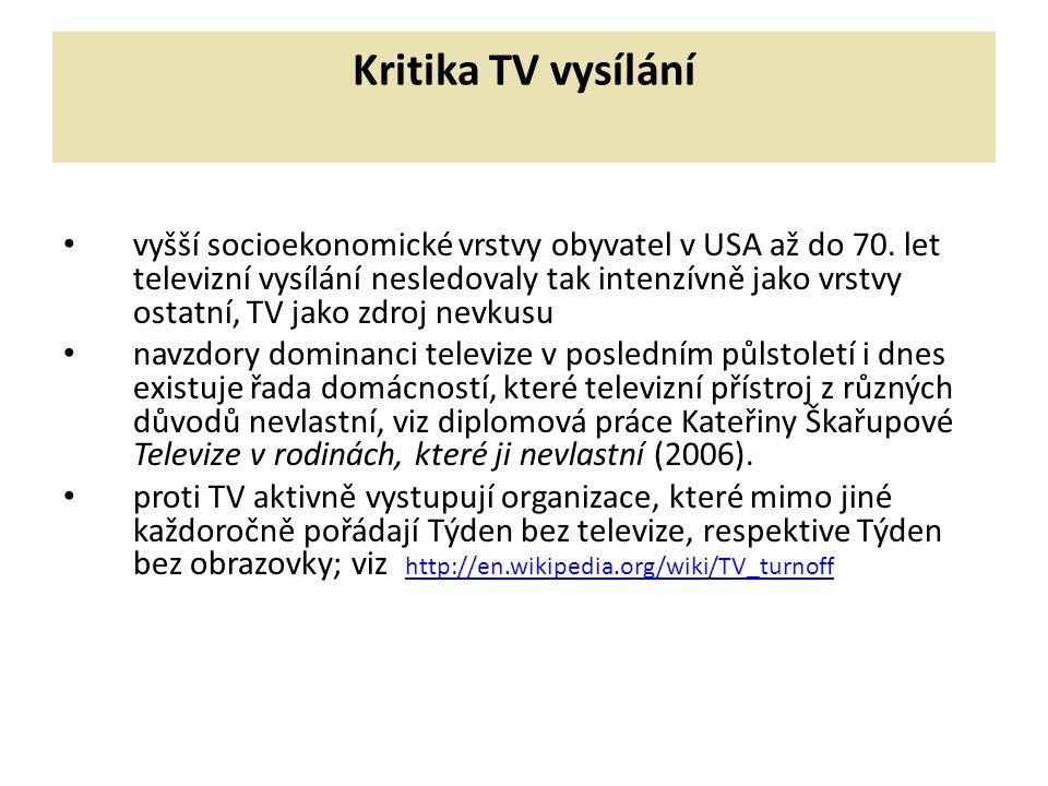 Kritika TV vysílání