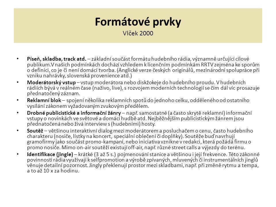 Formátové prvky Vlček 2000