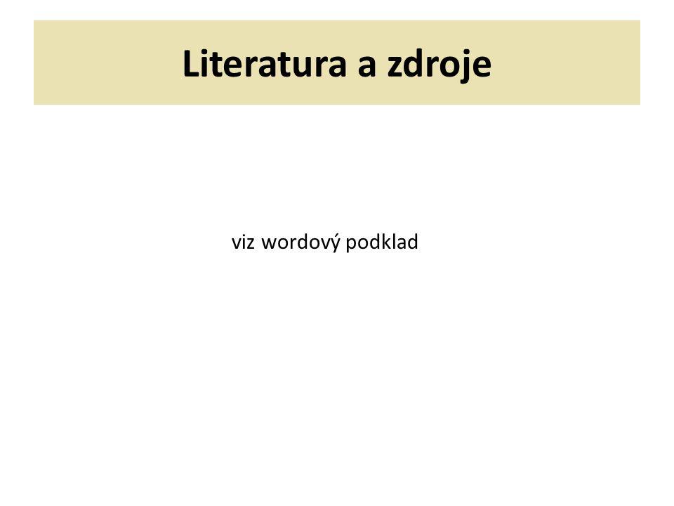 Literatura a zdroje viz wordový podklad 52