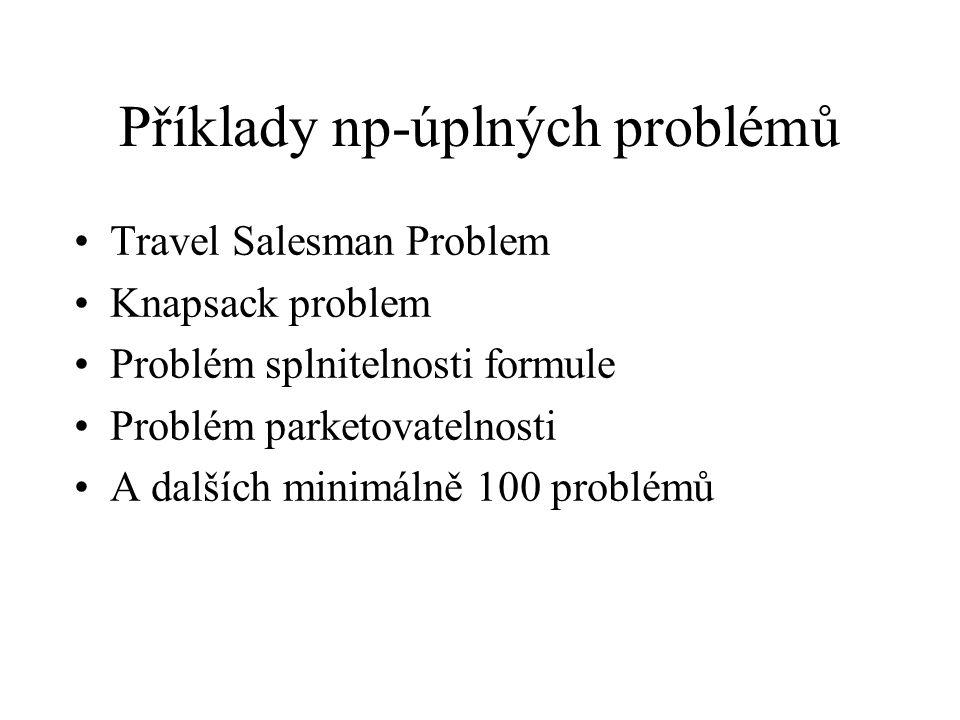 Příklady np-úplných problémů