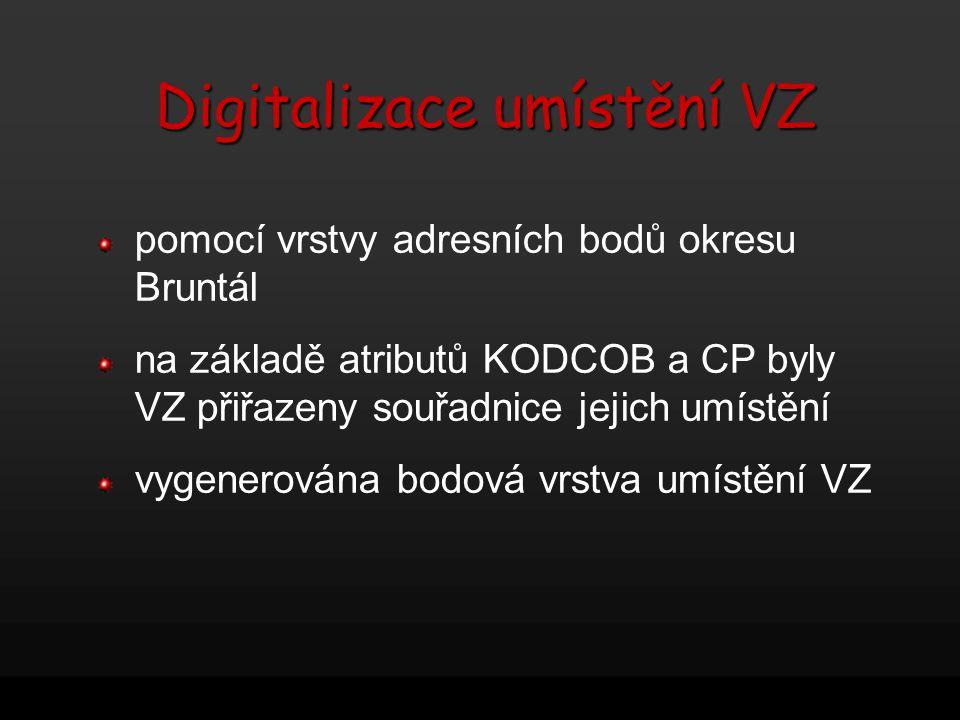 Digitalizace umístění VZ