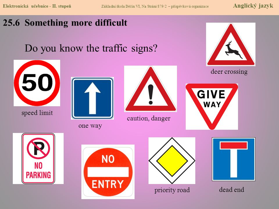 Do you know the traffic signs